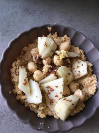 flax seed, appel, blog, recept, taart, appeltaart, havermout, yoghurt, lijnzaad, ontbijt, hazelnoot, suikervrij, gezonde recepten, lekkere recepten, foodblog